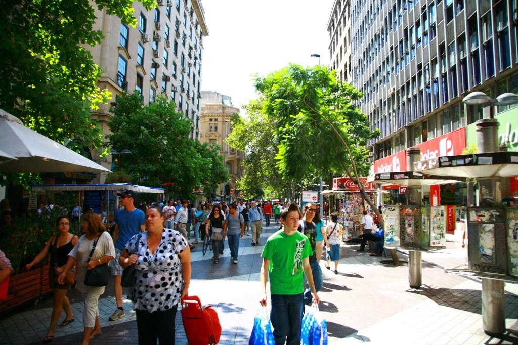 チリの首都サンティアゴ