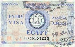 エジプトのビザ。ヌエバア港でアライバルで取れる。ビザ料金は15ドル