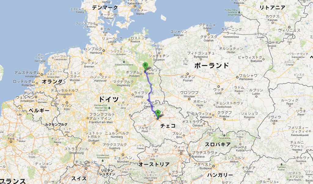 プラハからベルリンまでバスで移動