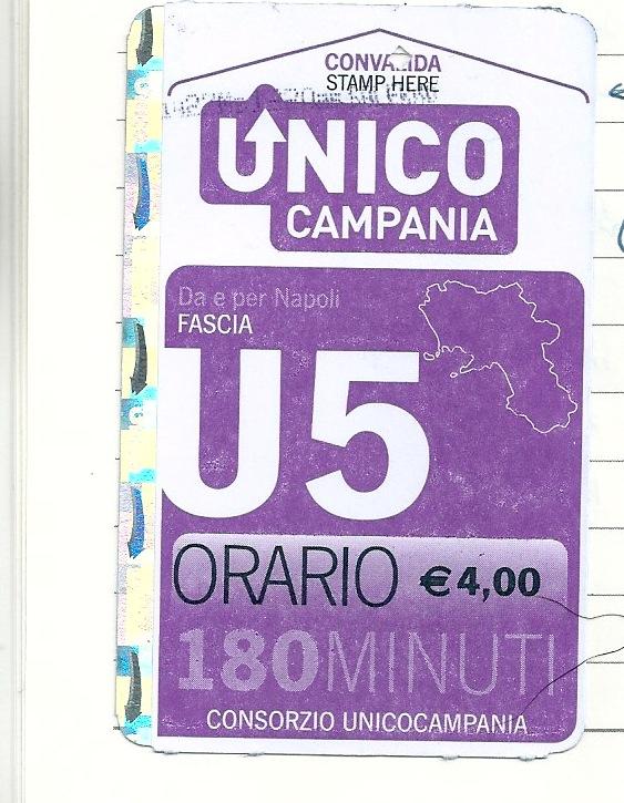 ナポリ駅のキオスクで購入。ナポリからサレントまでキオスクで購入すると4ユーロ