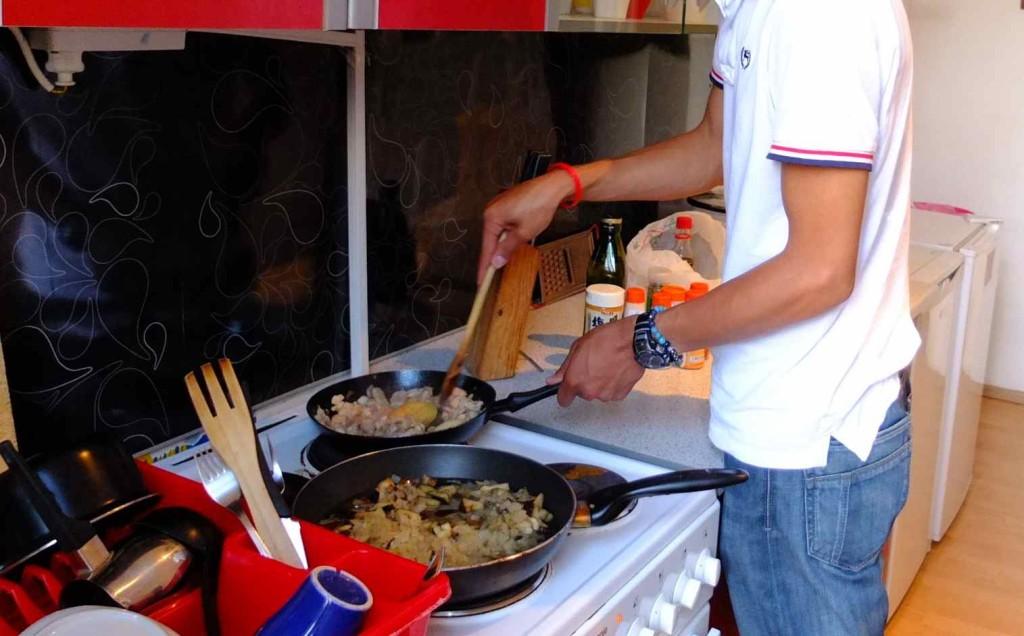 キッチンが広くて清潔だったので、気分よく料理ができる。
