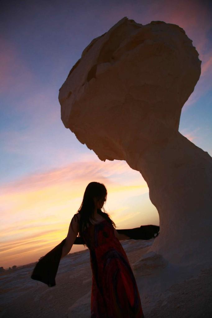 白砂漠と妻