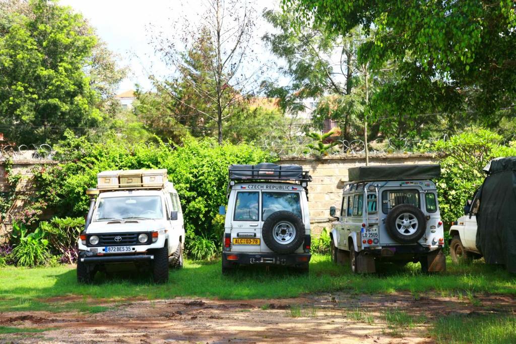 南から北に横断する旅人、北から南に横断する旅人、アフリカの中継点ナイロビ。アフリカの旅情報満載の宿だった。