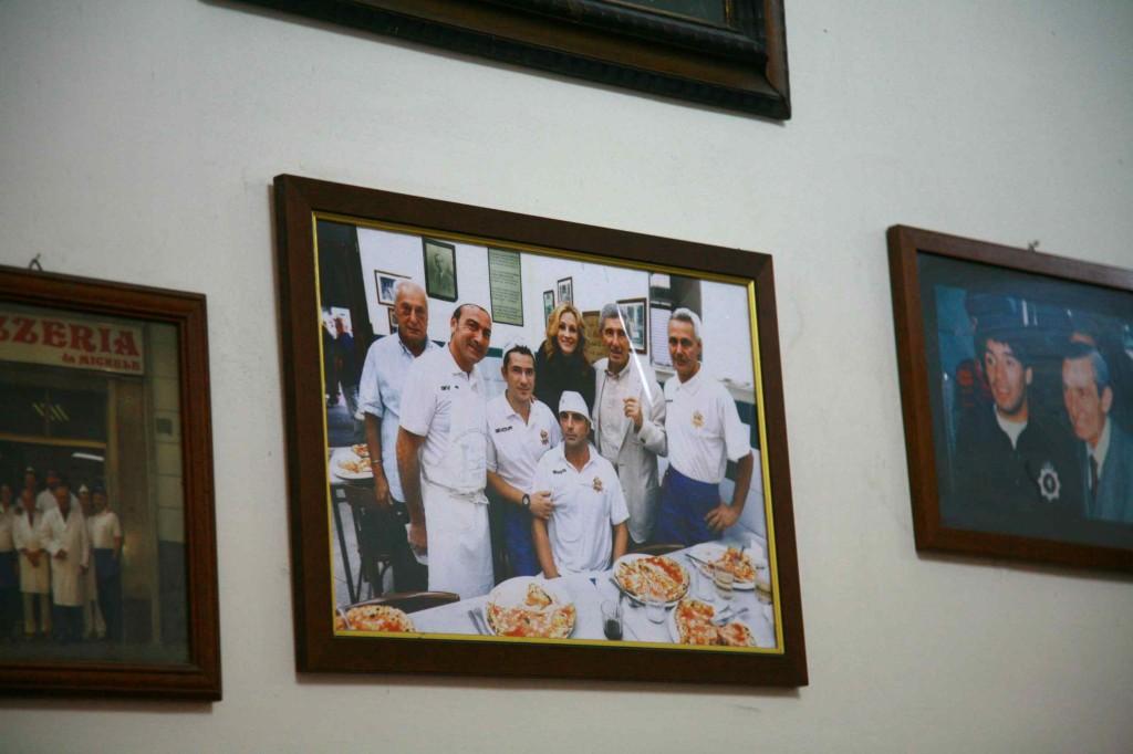 店内に飾られてるジュリアロバーツの写真