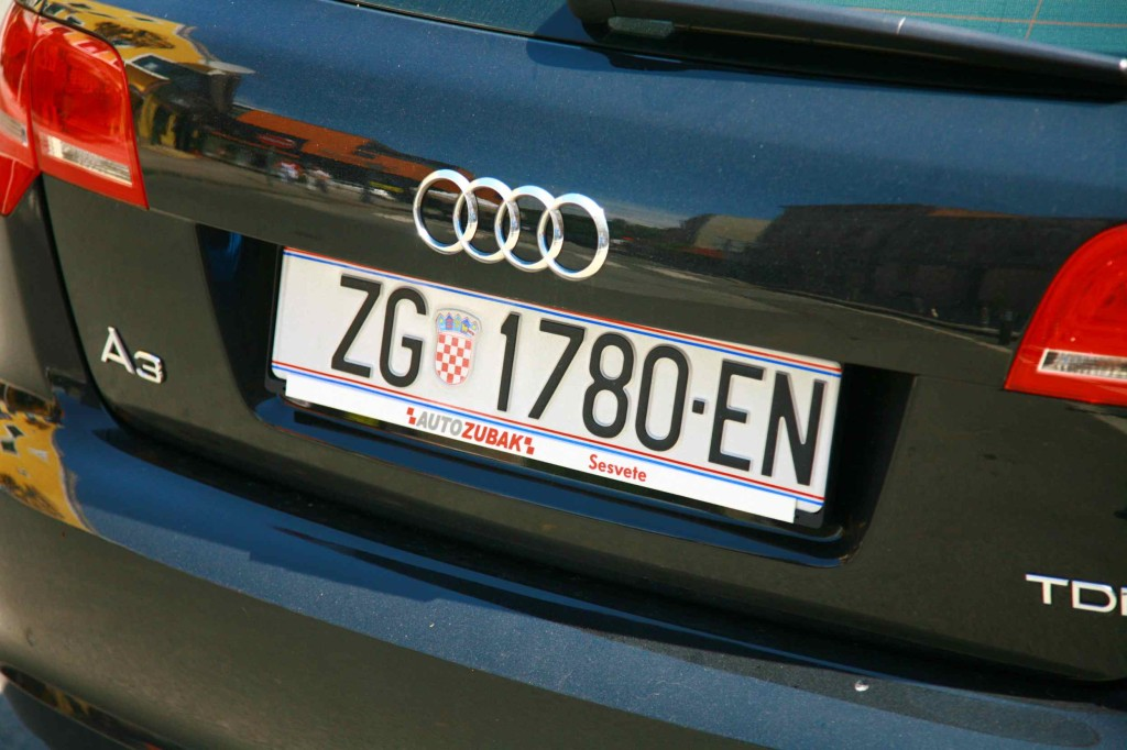 クロアチアの車のナンバープレート