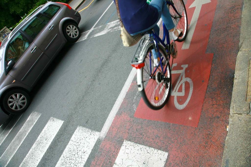 リュブリャナの自転車専用道路