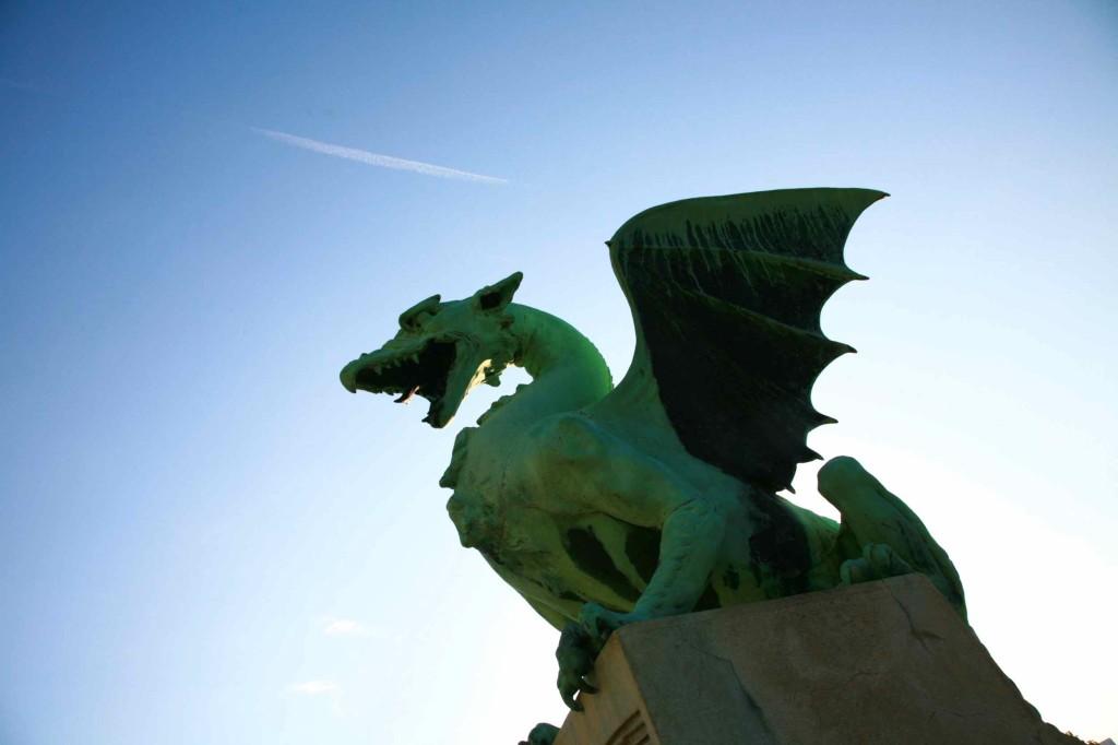 リュブリャナのシンボルはドラゴン。