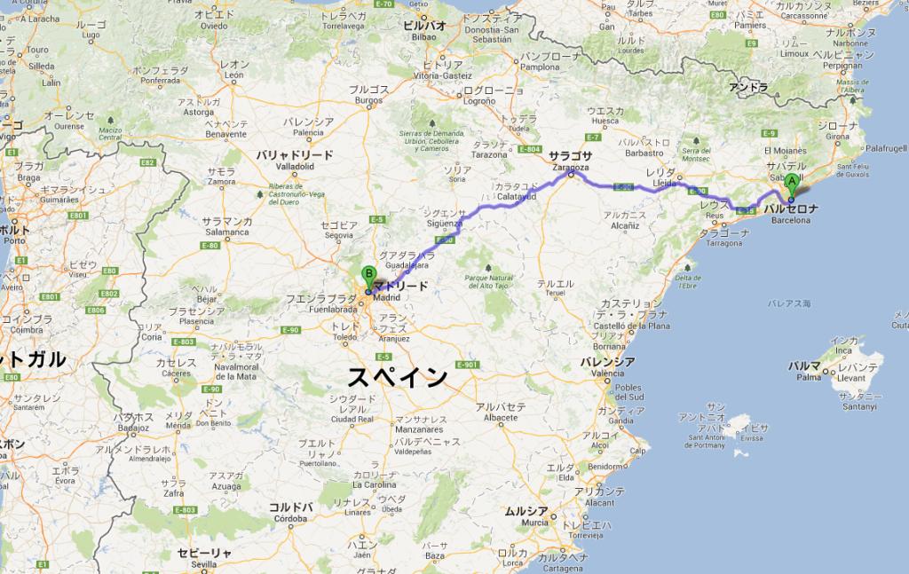 バルセロナ(スペイン)からマドリード(スペイン)までのバス移動