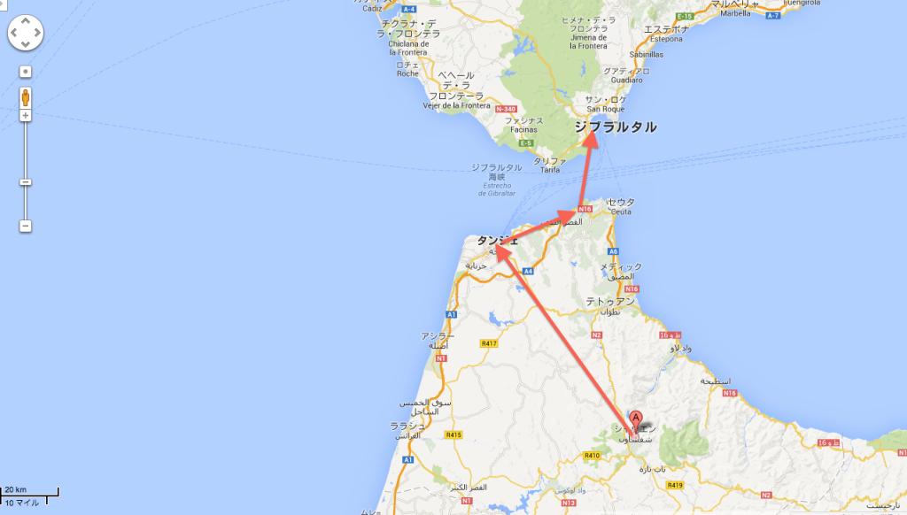 【国境を船で越えてみた】シャウエン(モロッコ)からタンジェ(モロッコ)を経由してアルへシラス(スペイン)までのバス•船フェリー移動