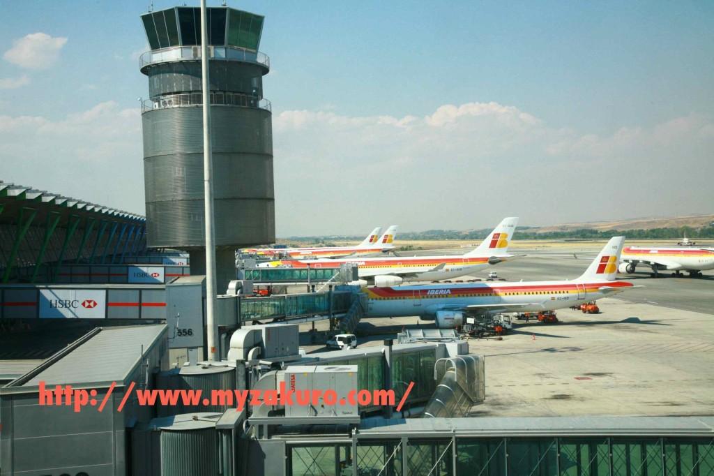 マドリードの空港はイベリア航空が大量に発着。さすがスペインのナショナルフラッグ。
