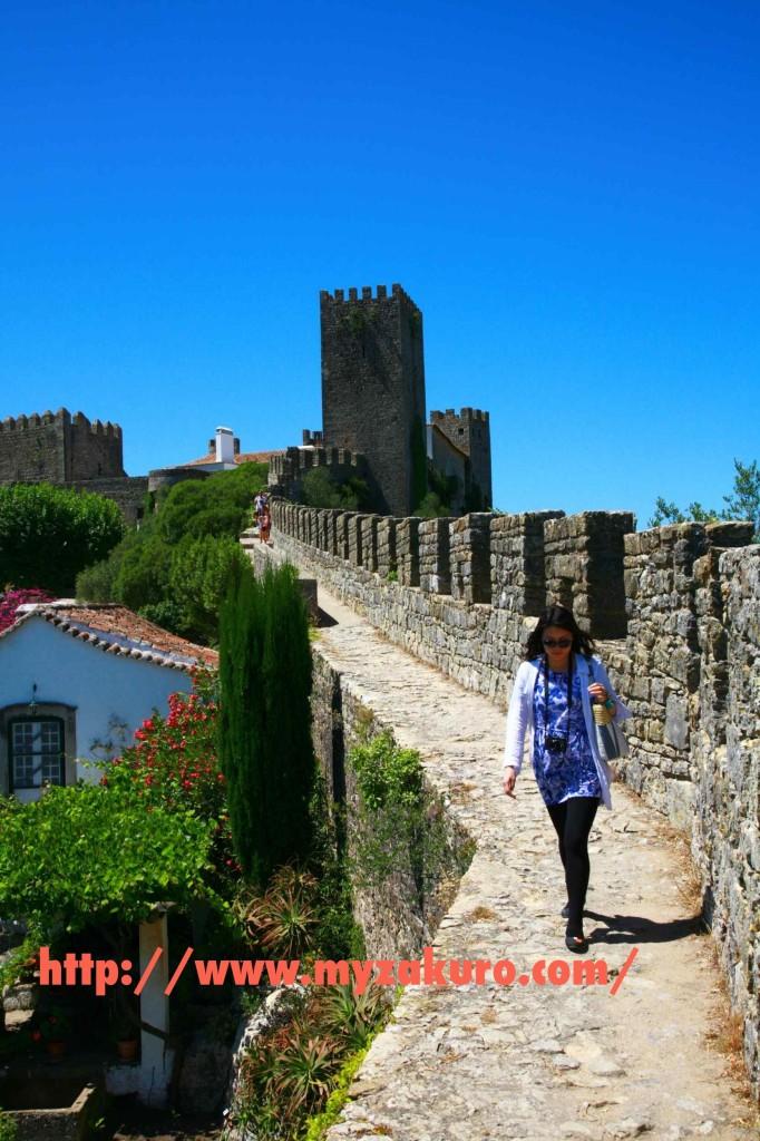 オビドス城壁を歩いてみた。