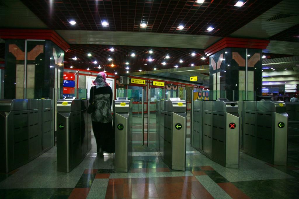 地下鉄の入場ゲート