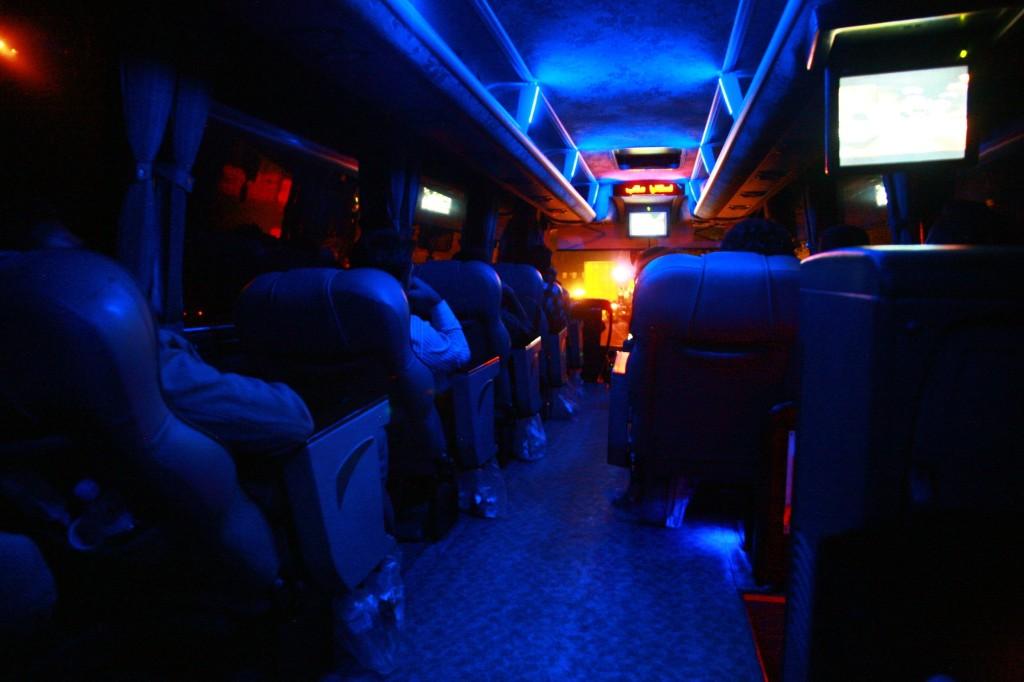 イランのVIP長距離バス車内