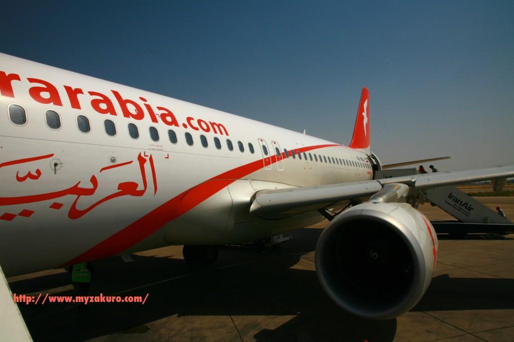 この旅最後のエアアラビア。