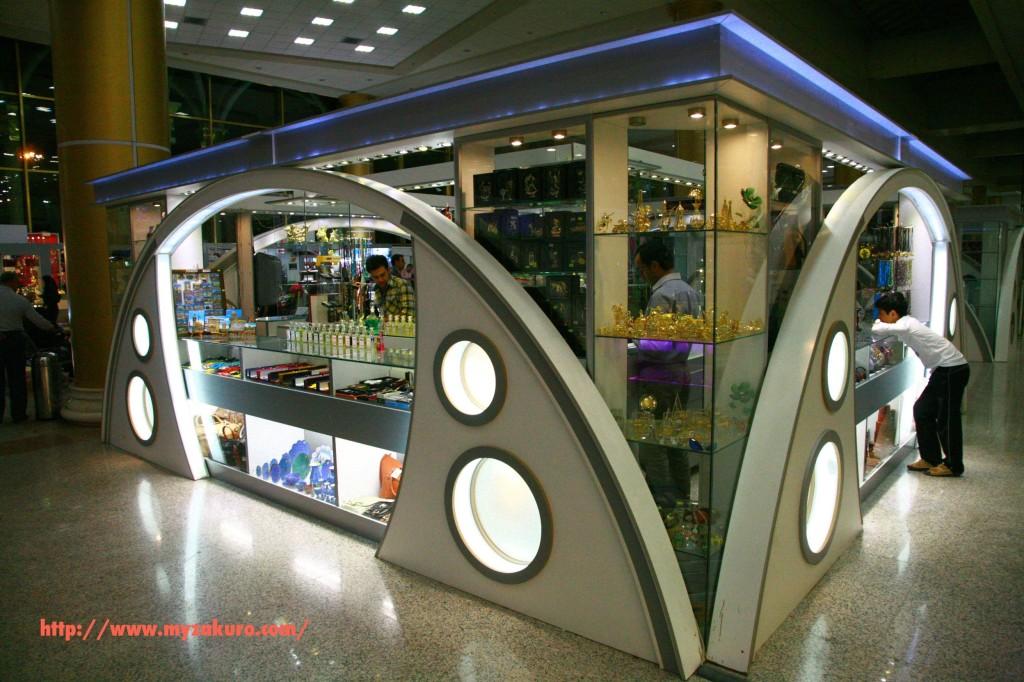 マシュハド国際空港のお土産店