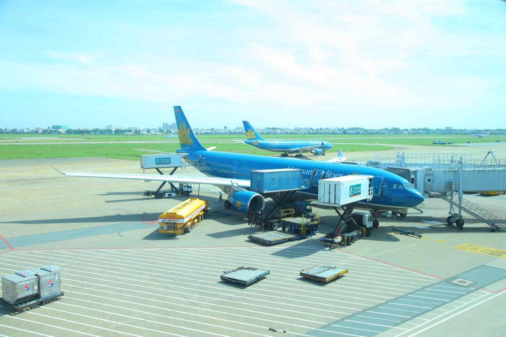 青が綺麗なベトナム航空