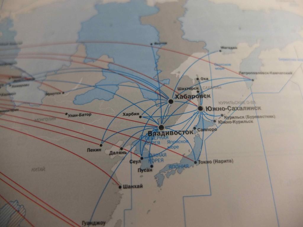 ロシア航空の就航エリアを見ると、樺太や北方領土にも就航している...日本人としてはめっちゃ複雑です...