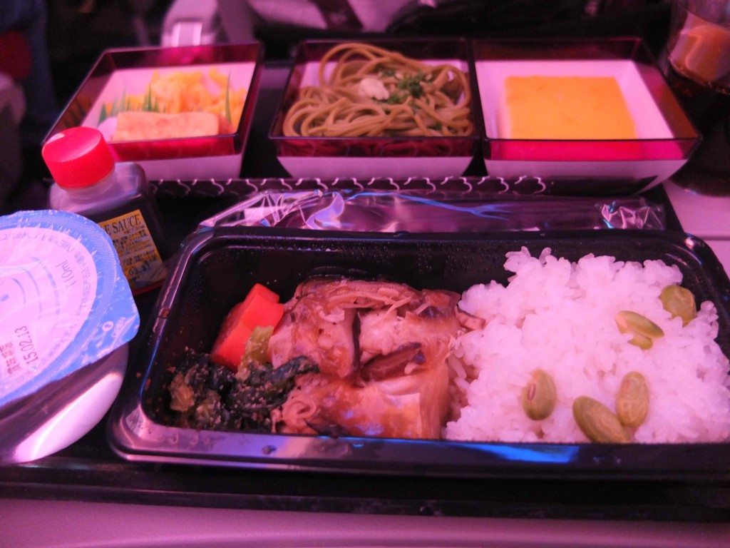 カタール航空の夕食(和食)