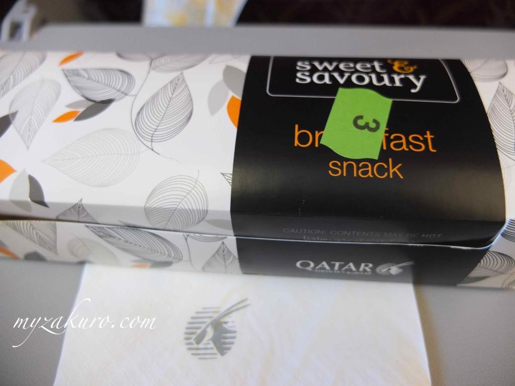 カタール航空の朝食ボックス