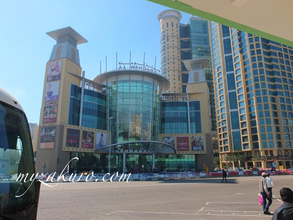 アブダビのバスターミナル側になるAl Wadaモール