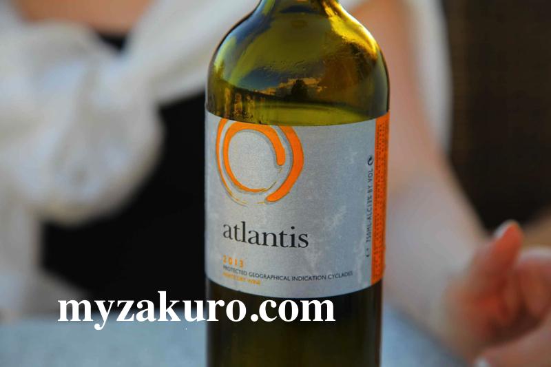 サントリーニ産のワインAtlantics