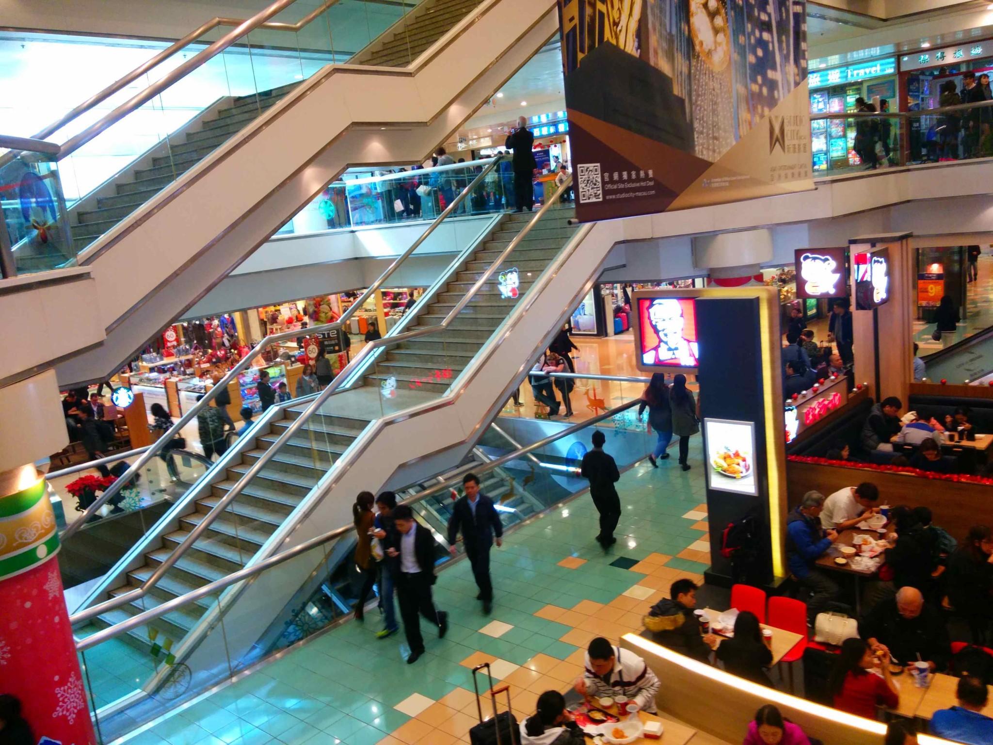 香港島・上環の信徳中心 (Shun Tak Centre) にある香港/マカオ・フェリーターミナル