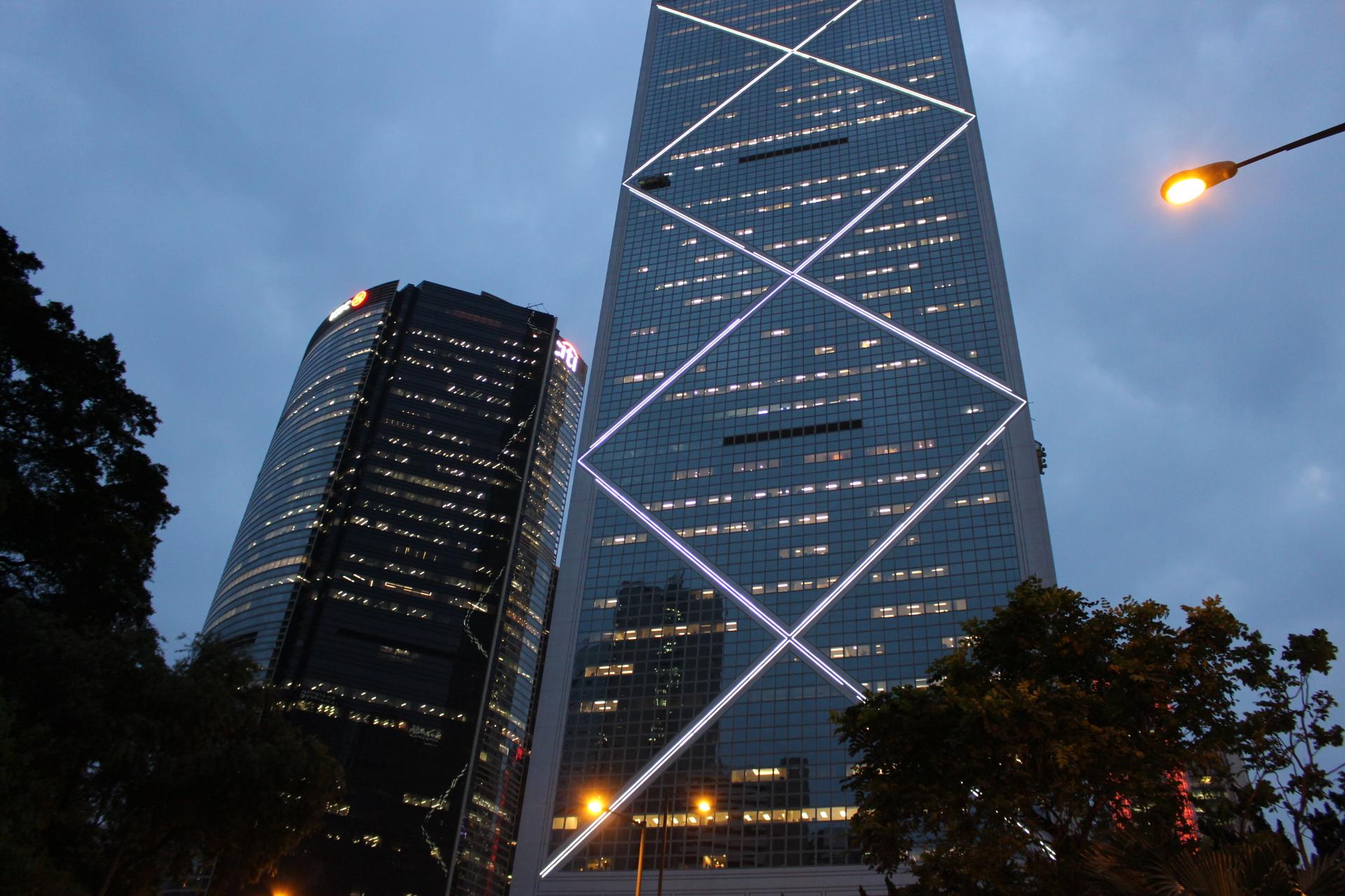 中国銀行タワーの外観